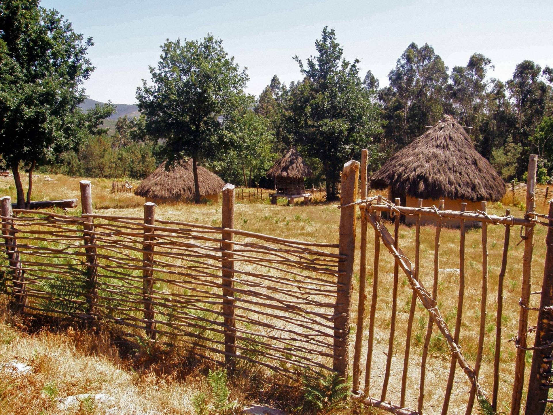 Recreación dun Poboado da Idade do Bronce no Parque arqueolóxico de Campo Lameiro.