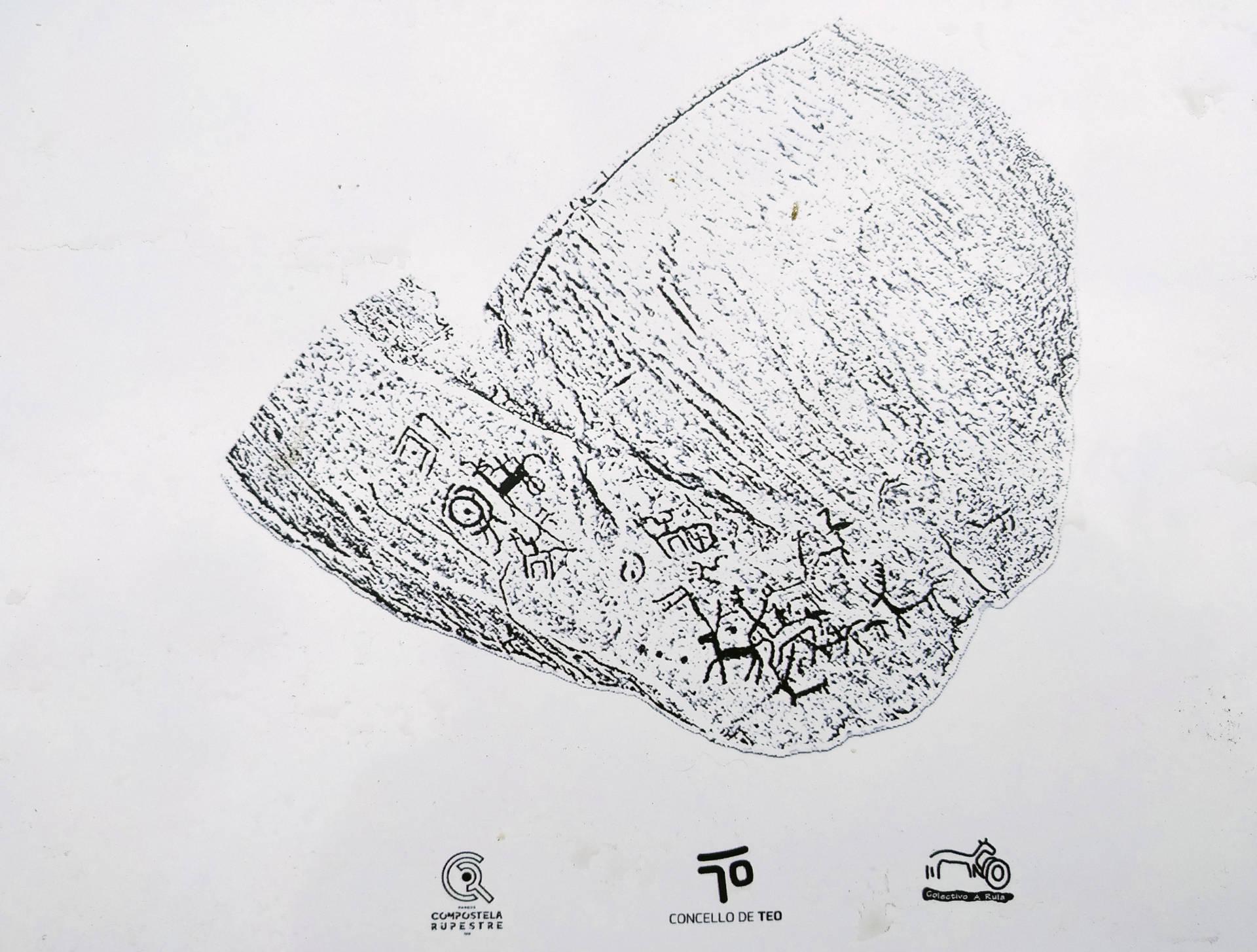 Calco del petroglifo de Río Angueira 2.