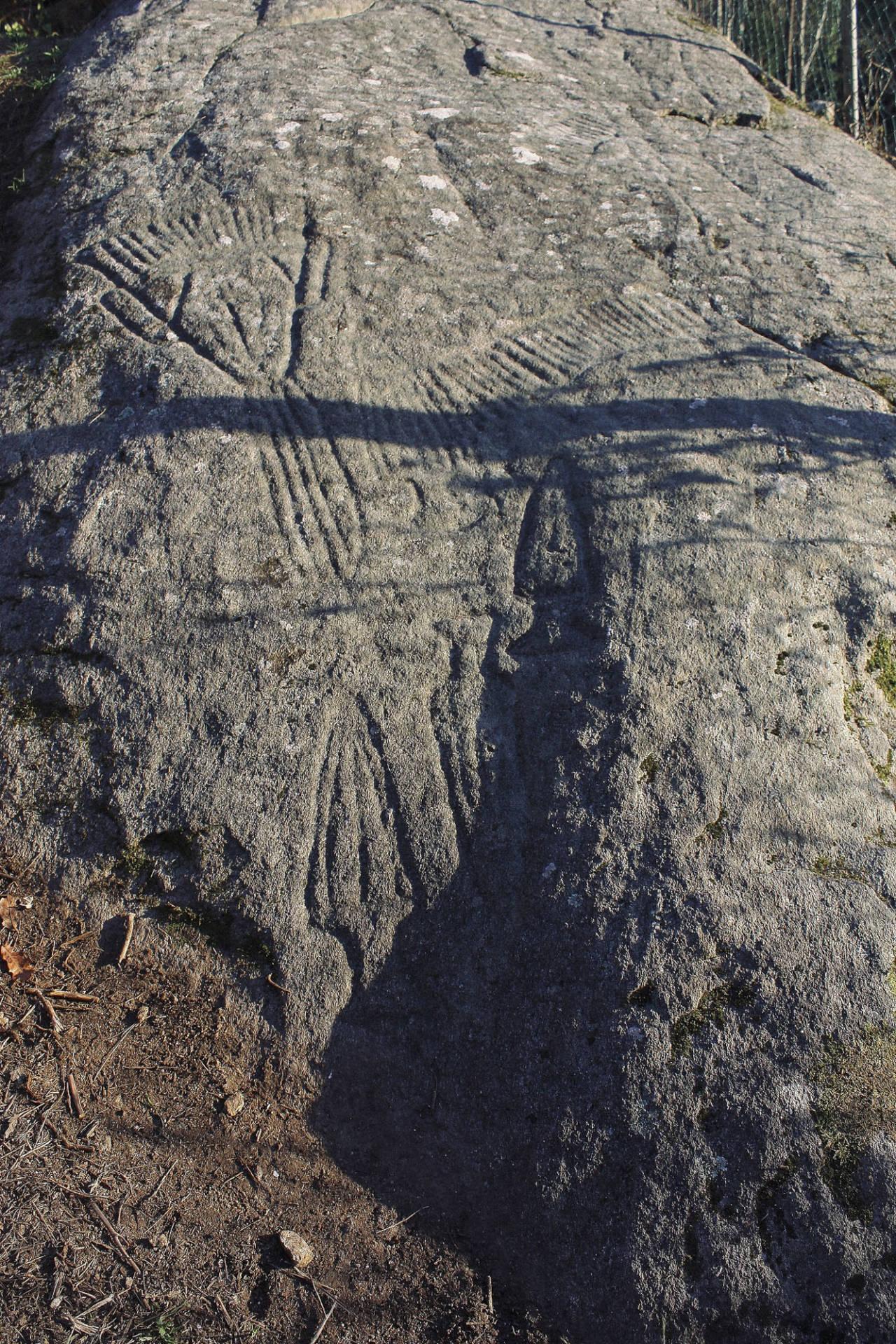 Vista xeral do petróglifo de Conxo de día. ©Colectivo a Rula