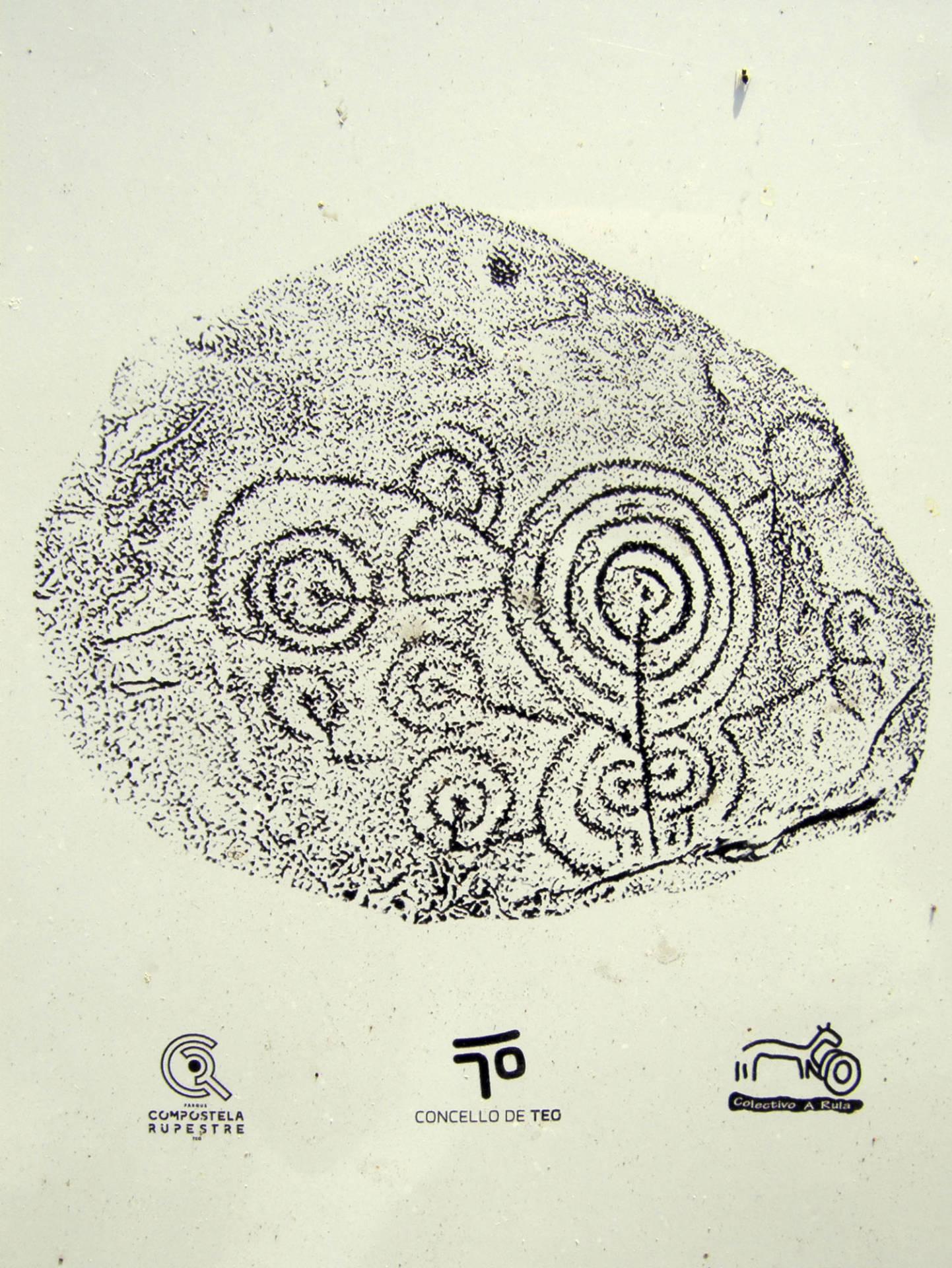 Calco del petroglifo de Río Angueira 1.